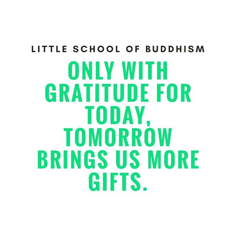 LSOB - Only With Gratitude For Today, Tomorrow Brings Us More Gifts